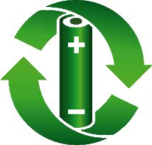 grüne Batterie-Sammelbox